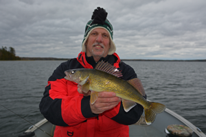 image of phil goettl with nice walleye