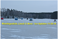 image of ice shelters near grand rapids mn