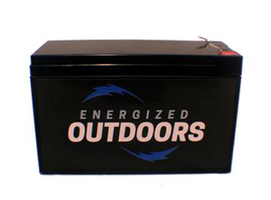 image of energized outdoors lithium battery