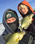 image of mark thompson with crappies