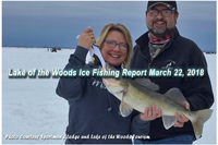 image of woman with nice walleye