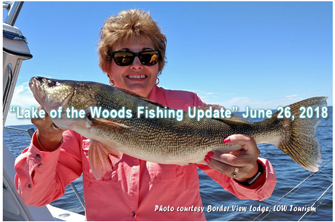 image of lady with huge walleye