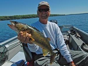 image of Mr. C Bob Carlson with nice walleye
