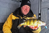 image of Jeff Sundin with Lake Mille Lacs perch