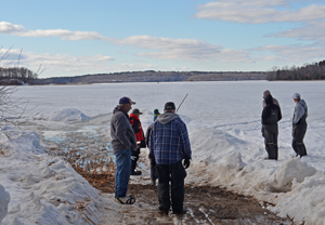 image of anglers checking the landing