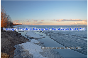 image of ice conditions at Mille Lacs