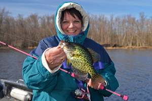 image of the hippie chick with nice crappie
