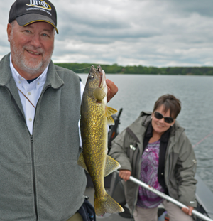 image of Ron Rupp with walleye