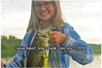 image of claire clusiau with big bass