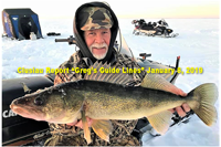 image of greg clusiau with big walleye