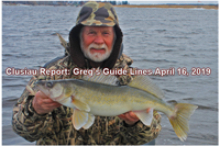 image of greg clusiau with Rainy River Walleye
