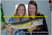 image of women with big walleye