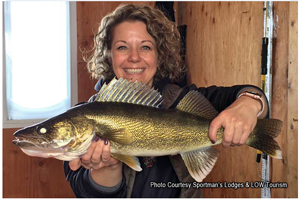 image of Lisa with big walleye