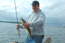 Chad Haatvedt Jig Worm Walleye July 2009