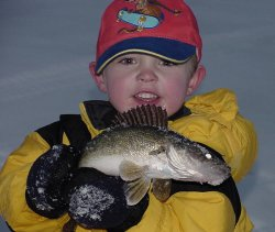 Hey dad, look at this Walleye!