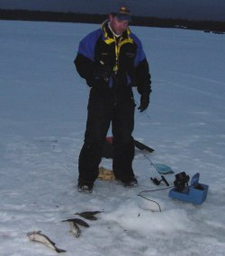 Perch and Walleye fishing is steady if you keep searching