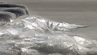 image links to video about ice stacking up on lake superior