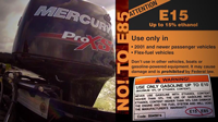image links to video about E-15 damaging outboards