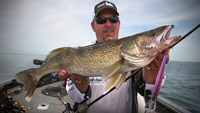 image of Scott Glorvigen with big Walleye