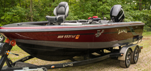 image of lund 208 pro v gl tiller boat for sale