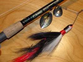Musky Rod and Musky Spinnerbait