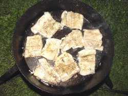 Cajun Pike In Hot Skillet
