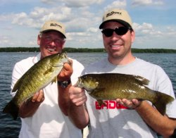 Smallmouth Bass Double, Jeff & Jeff