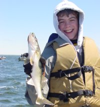 Ryan with a nice Walleye on Lake Winnie